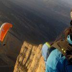 Paragliding over Montrebei canyon