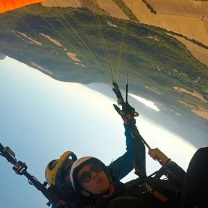 Paragliding acrobatics